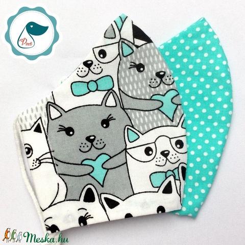 2 db mintás rmaszk - kiskamasz arc maszk - textil szájmaszk - egészségügyi szájmaszk - mosható szájmaszk (Pindiart) - Meska.hu