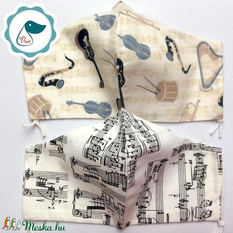 2db hangjegyes maszk - férfi maszk - textil szájmaszk - egészségügyi szájmaszk - Meska.hu