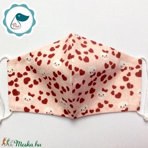 Egyedi nyuszis maszk - prémium kiskamasz arcmaszk - húsvéti maszk - egészségügyi textil szájmaszk - mosható szájmaszk - Meska.hu