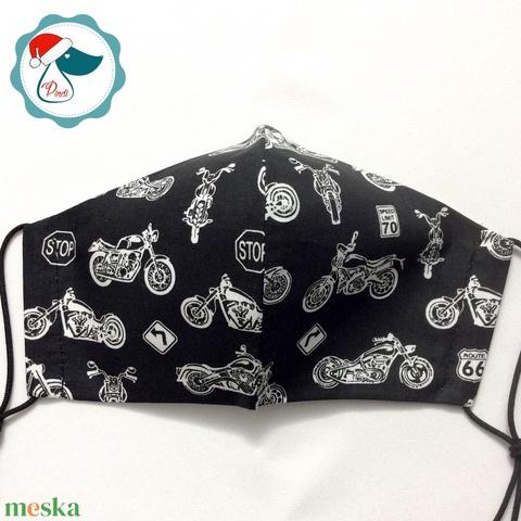 Egyedi motoros maszk - kiskamasz arcmaszk - textil szájmaszk - egészségügyi szájmaszk - mosható szájmaszk - Meska.hu