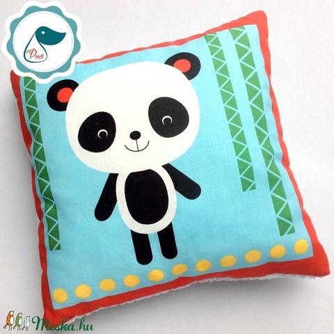Gyerek pandamacis párna - egyedi mintás - kispárna - alvópárna - puha kispárna - Meska.hu