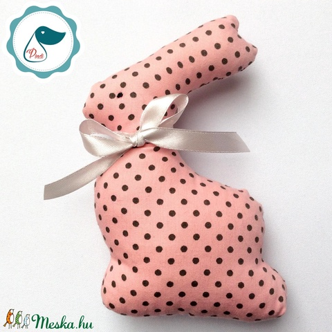 Nyuszi- egyedi tervezésű kézműves játék - textiljáték -  húsvéti nyúl         - játék & gyerek - plüssállat & játékfigura - nyuszi - Meska.hu