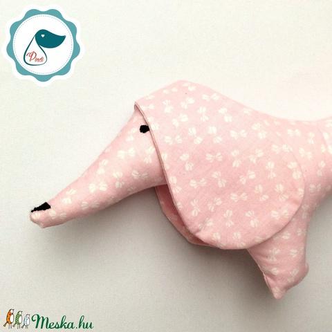 Tacskó -  egyedi tervezésű kézműves játék - textiljáték - tacsi kutya - Meska.hu
