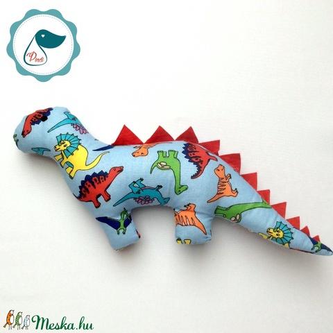 Dinószaurusz - dinó mintás egyedi tervezésű kézműves játék - textiljáték - dinó gyerek játék - játék & gyerek - plüssállat & játékfigura - kutya - Meska.hu