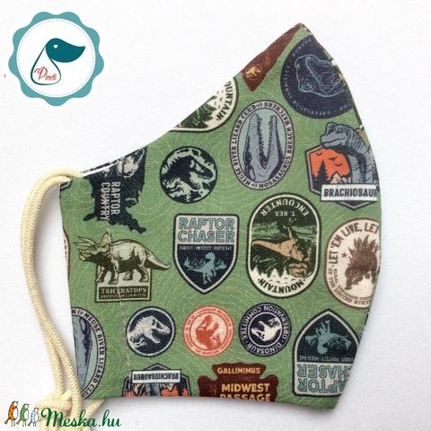 Egyedi Jurassic world - gyerek szájmaszk - textil maszk - egészségügyi szájmaszk - mosható szájmaszk - maszk, arcmaszk - gyerek - Meska.hu