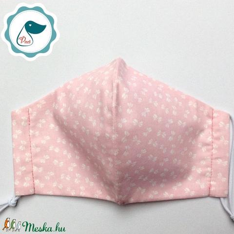 Egyedi masni mintás maszk - felnőtt női és teenager szájmaszk - textil szájmaszk - egészségügyi szájmaszk - Meska.hu