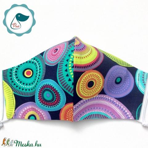 Egyedi prémium - mandala mintás felnőtt női és teenager szájmaszk - textil szájmaszk - egészségügyi szájmaszk - Meska.hu