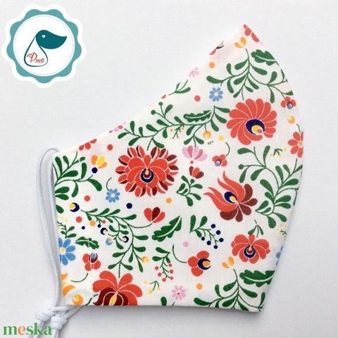 Egyedi kalocsai mintás maszk - felnőtt női és teenager maszk - textil szájmaszk - egészségügyi szájmaszk - Meska.hu