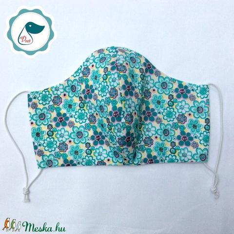 Egyedi virág  mintás maszk - kiskamasz arcmaszk - textil arcmaszk - egészségügyi maszk - mosható szájmaszk - Meska.hu