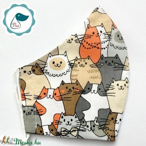Egyedi cicás maszk - felnőtt női és teenager szájmaszk - textil szájmaszk - egészségügyi szájmaszk - Meska.hu