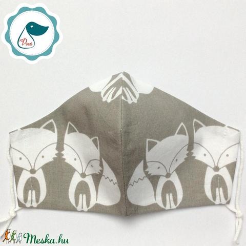 Egyedi rókás maszk - felnőtt női és teenager szájmaszk - textil szájmaszk - egészségügyi szájmaszk - Meska.hu