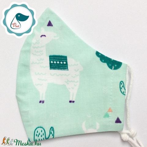 Egyedi  lámás maszk - kiskamasz arcmaszk - textil arcmaszk - egészségügyi maszk - mosható szájmaszk - Meska.hu