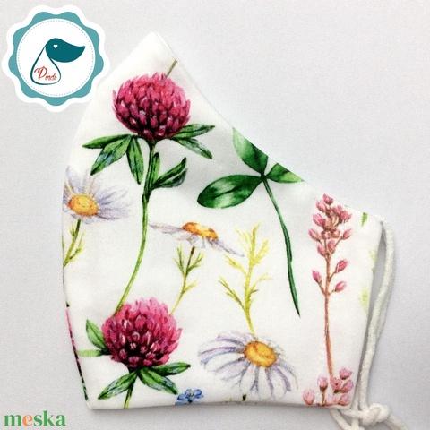 Egyedi mezei virágos maszk - prémium  női és teenager szájmaszk - nyári textil szájmaszk - egészségügyi szájmaszk - maszk, arcmaszk - Meska.hu