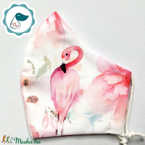 Egyedi  flamingó mintás közép méretű neszesszer - táska ki egészítő - vintage neszesszer - aprópénztartó - táska & tok - neszesszer - Meska.hu