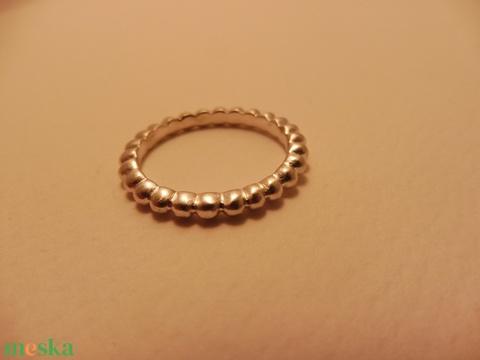 ezüst buborék gyűrű    - ékszer - gyűrű - kerek gyűrű - Meska.hu