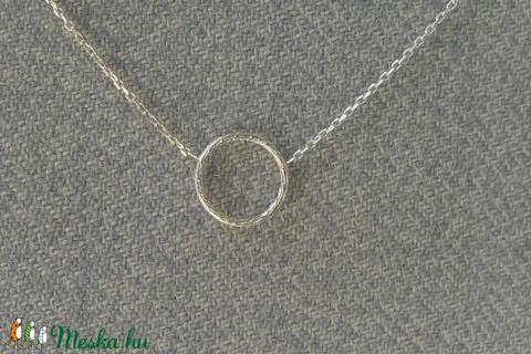 ezüst lánc karikával (piroekszer) - Meska.hu
