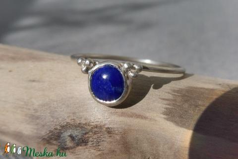 ezüst gyűrű lápisz lazulival - Meska.hu