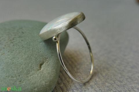 ezüst opálos gyűrű  - Meska.hu