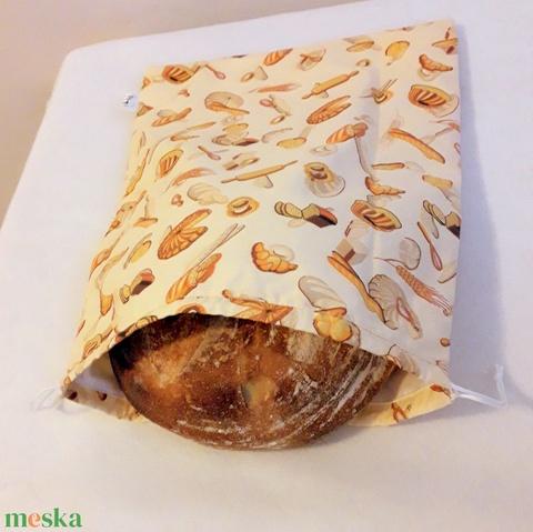 Nagy kenyérzsák ,kenyér ,péksütemény tárolására (Pirosmami) - Meska.hu