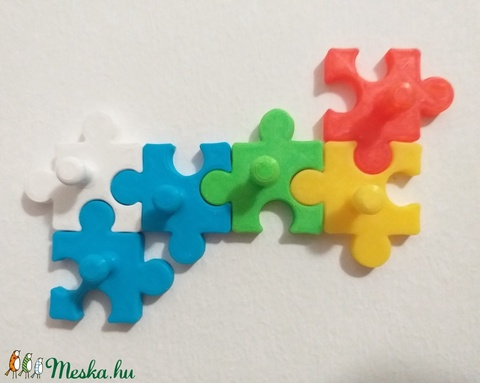 Puzzle Fali Kulcstartó (PlasticPuppet) - Meska.hu