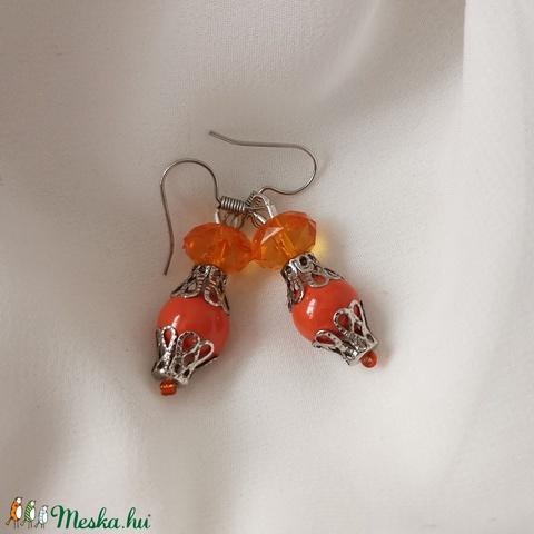 Egyszerű nyári narancssárga fülbevaló (popalinda) - Meska.hu