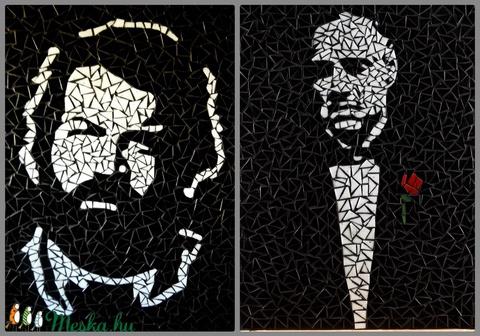 REKREDENC -  mozaik faliképek sztárokról (popdeco) - Meska.hu