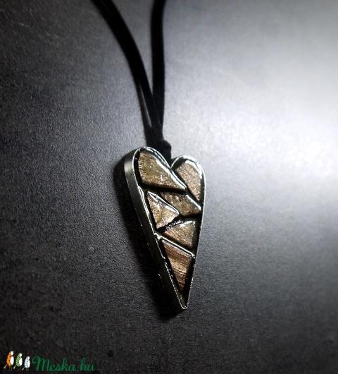 Mozaik medál - rose gold szív  INGYEN POSTA! - Meska.hu