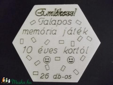 Memória játék, 26 darabos  (Pubik) - Meska.hu