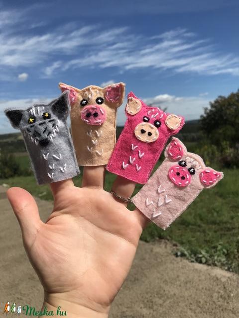 Ujjbáb szett - Három kis malac és a farkas (PupikErdoLakoi) - Meska.hu
