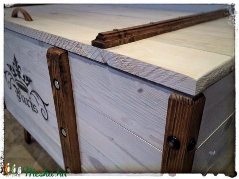 Rusztikus láda asztal (PuritanSteel) - Meska.hu