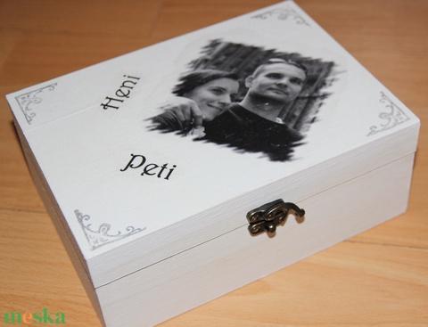 Egyedi, fényképes teás doboz, fotótranszferálva, felirattal. :-) - Meska.hu