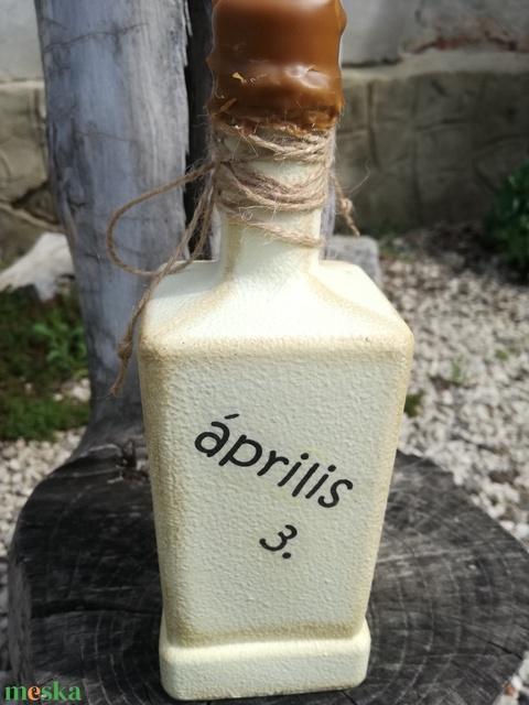 Babafotós, transzferált italos üveg az apukáknak. :-) - Meska.hu