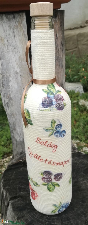 Zsinóros italos üveg, felirattal. :-) - Meska.hu