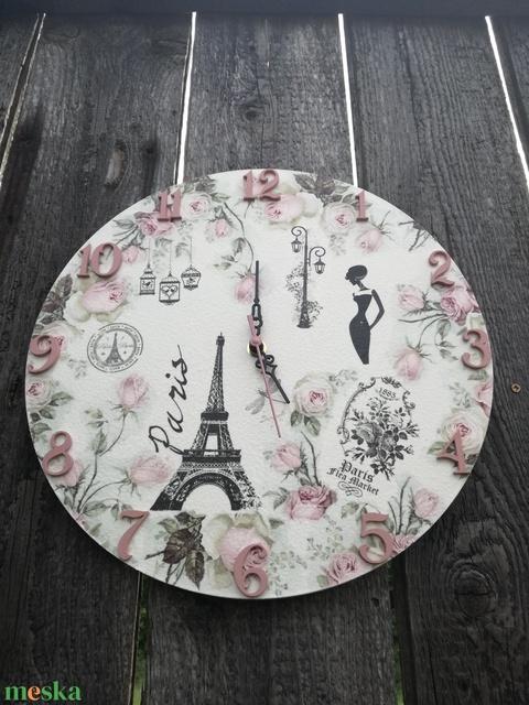 Vintage falióra. Párizs-Eiffel torony-romantika. :-) - Meska.hu