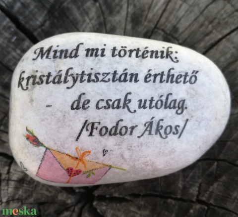 Kavics, rövid üzenettel. :-)  - Meska.hu
