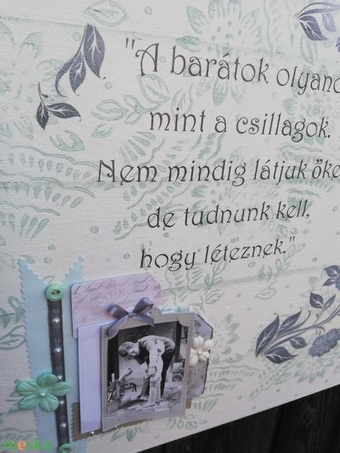 Fényképtartó, felirattal, a legjobb barátodnak. :-) - Meska.hu