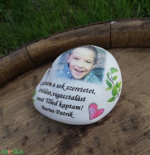 Fényképes és feliratos kő, személyre szabottan. :-) - Meska.hu