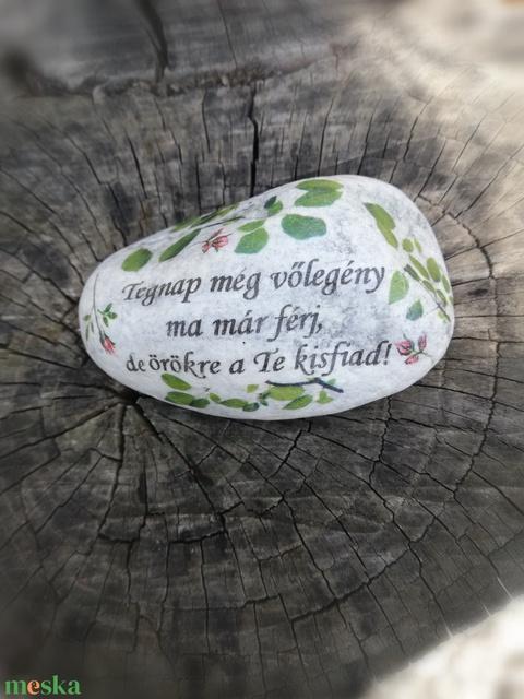 Fényképes és feliratos kő szett, személyre szabottan. :-) (Regikislany) - Meska.hu