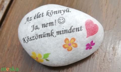 Pedagógusoknak köszönő kő. :-) - Meska.hu