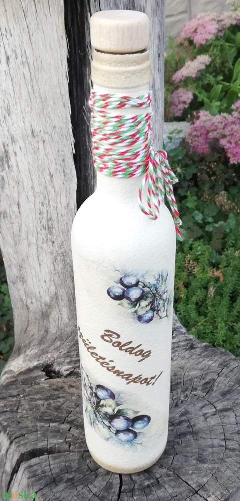 Italos üveg szülinapra. :-) - Meska.hu