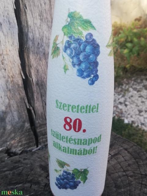 Pálinkás üveg 80. szülinapra. :-) - Meska.hu