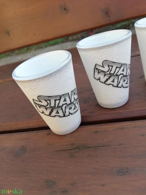 Star Wars - fotó-transzferált és feliratozott pohár szett, 6 db-os. :-) - Meska.hu