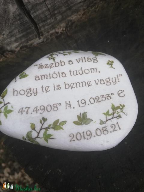 Nagyméretű kétoldalas. fotós és feliratos kő. :-) - Meska.hu
