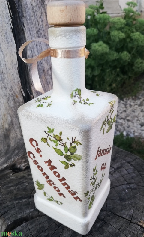 Italos üveg Apukáknak-Nagypapáknak, babaszületésre. :-) - Meska.hu