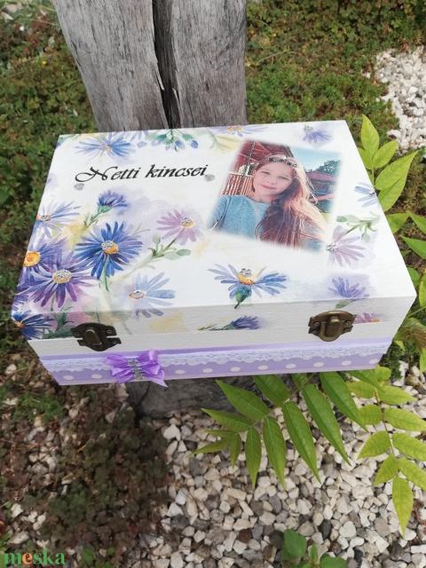Fényképes, egyterű doboz, kislányoknak, transzfer-technikával. :-) - Meska.hu