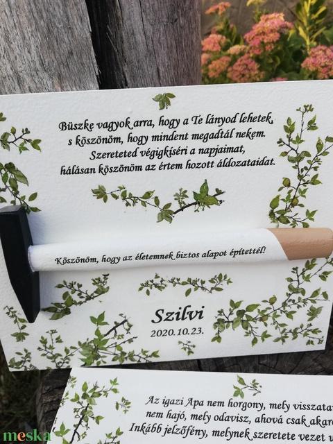 Köszönő ajándék az apukáknak, anyukáknak, személyre szabottan. :-) - Meska.hu