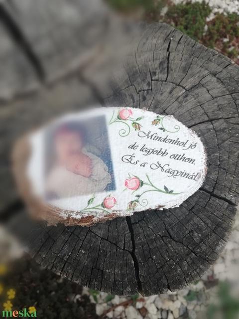 Megérkeztem! - fényképes, feliratos hűtőmágnes, faszeletből. :-)  - Meska.hu