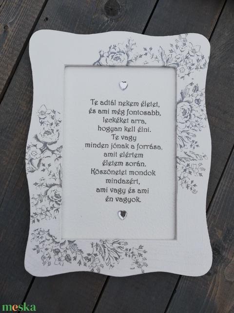 Köszönet Anyának - feliratos, elegáns fényképtartó. :-) - Meska.hu