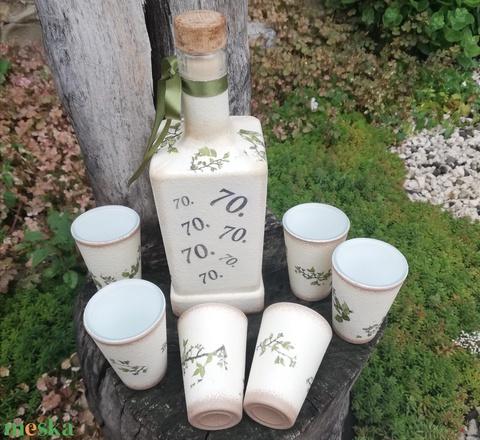 Transzferált, egyedi fotóval és felirattal ellátott italos szett. :-) - Meska.hu
