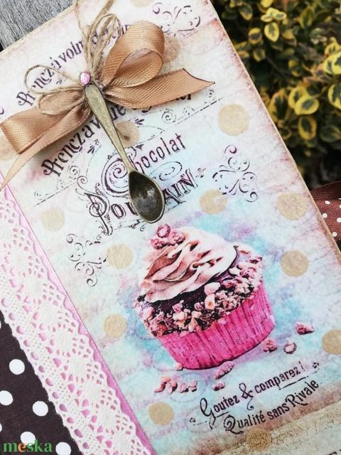 Receptes könyv, sütivel, vintage stílusban.  :-) - Meska.hu